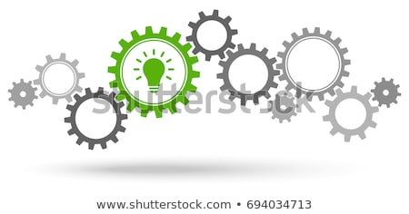 idea, plan, success in grey gear-wheels Stock photo © marinini
