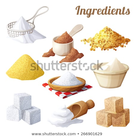brown and white sugar cubes Stock photo © jirkaejc