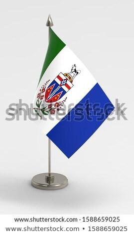 Minyatür bayrak yalıtılmış toplantı beyaz Stok fotoğraf © bosphorus