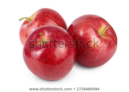新鮮な 赤いリンゴ 白 食品 フルーツ 庭園 ストックフォト © designsstock