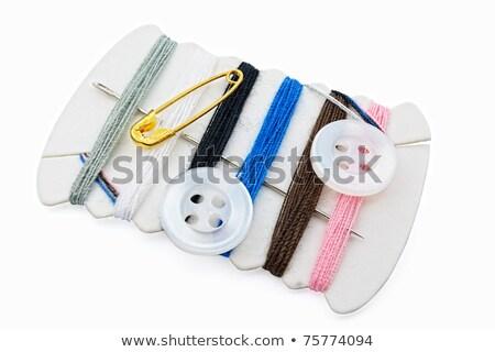 ミシン · ボックス · 刺繍 · カラフル · スレッド · バスケット - ストックフォト © smuay