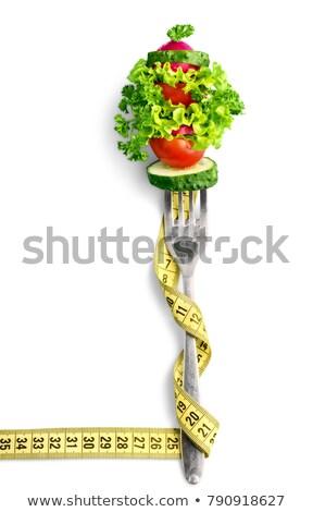 cenoura · comida · branco · fita · estilo · de · vida · vegetal - foto stock © m-studio