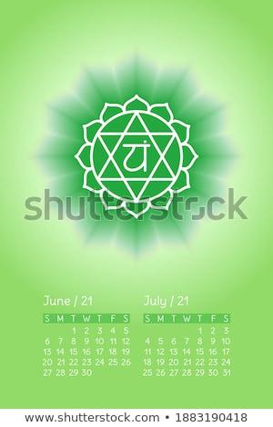 символ · иллюстрация · календаря · Элементы · отдельно - Сток-фото © rizwanali3d