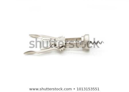 コークスクリュー 孤立した 白 銀 マクロ オープン ストックフォト © ozaiachin