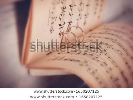Piyano klavye alyans detay düğün sevmek Stok fotoğraf © CaptureLight