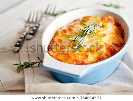 potato gratin with cheese and cream Stock photo © M-studio