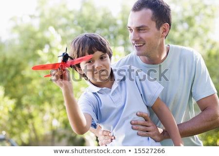 мальчика игрушку плоскости ребенка самолет Сток-фото © IS2