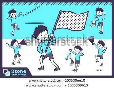 2tone type blue clothing boy_set 07 Stock photo © toyotoyo