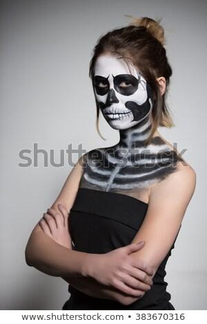 Barna hajú festett ahogy holttest portré halloween Stock fotó © acidgrey