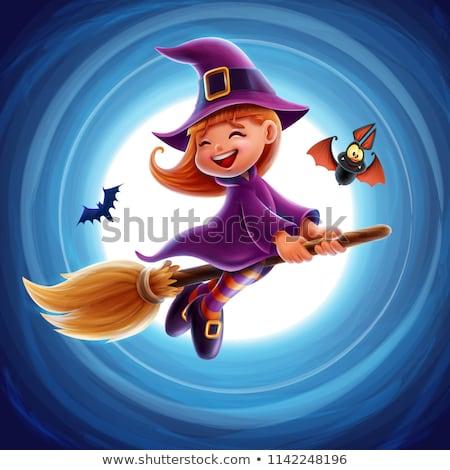 Хэллоуин · ведьмой · выделите · баннер · знак · характер - Сток-фото © cthoman