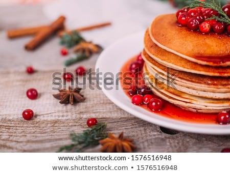 Pancakes with jam Stock photo © AGfoto