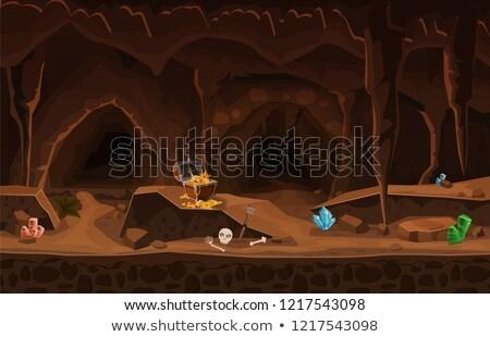 hadas · escena · establecer · ilustración · forestales · diseno - foto stock © colematt