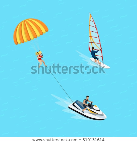 água bicicleta oceano atividade vetor windsurf Foto stock © robuart