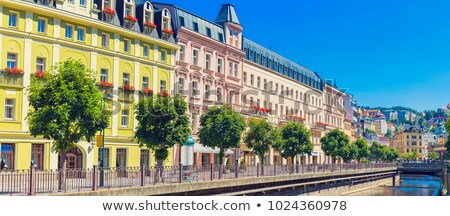 Stad centrum Tsjechische Republiek historisch huizen rivier Stockfoto © borisb17