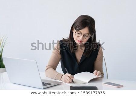 Jungen eleganten Lehrer Geschäftsfrau arbeiten Stock foto © pressmaster