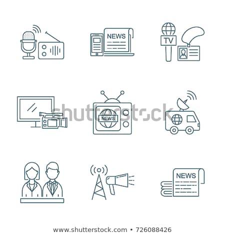 世界中 ライブ ニュース アイコン ベクトル ストックフォト © pikepicture