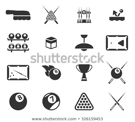 Bilhar simplesmente ícones símbolo os ícones do web usuário Foto stock © ayaxmr