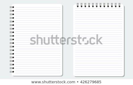 spirál · vonal · notebook · könyv · fekete · gyűrű - stock fotó © pinkblue