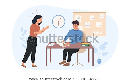boss shouting at employee stock photo © photography33