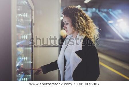 Klanten display automaat opschrift business team Stockfoto © tashatuvango