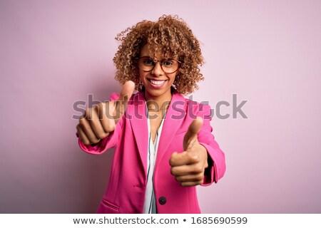 Happy businesswoman isolated white. Stock photo © Kurhan