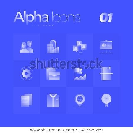 Folder Blue Vector Icon Design Stock photo © rizwanali3d
