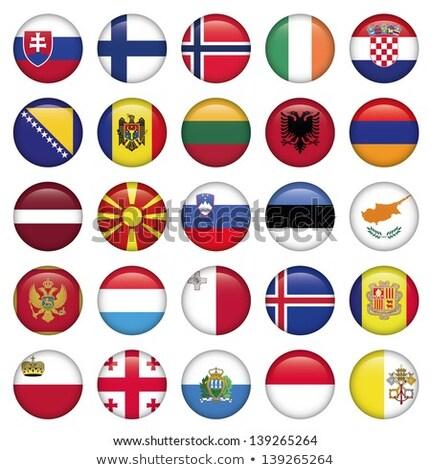 Icono bandera Georgia signo blanco Foto stock © MikhailMishchenko