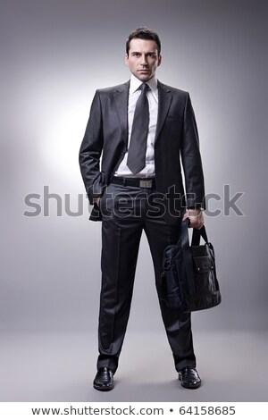 человека черный костюм черный случае белый стороны Сток-фото © GeniusKp