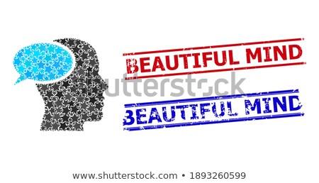 imagination concept on grunge word collage stock photo © tashatuvango