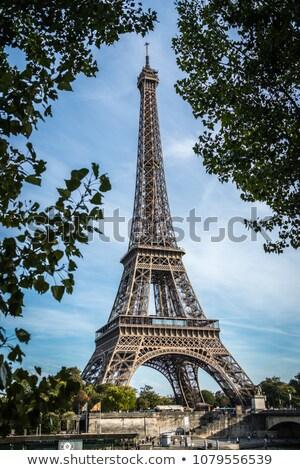 Skyline Paris la tournée eiffel ciel bleu Photo stock © meinzahn
