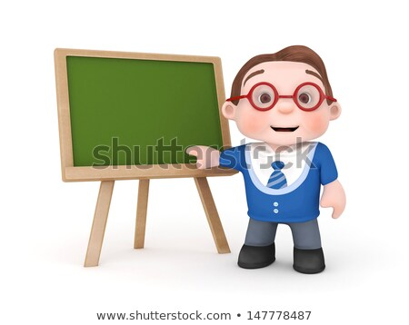 Small Chalkboard with Back To School Concept. 3D. Stock photo © tashatuvango