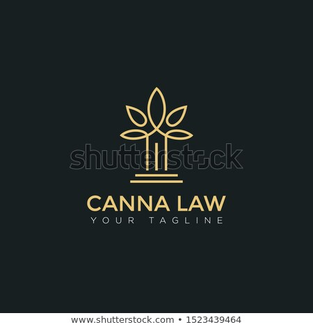 Cannabis Leaf Vector. Green Cannabis Cannabis Sativa or Cannabis Indica Leaf Isolated On White Backg Stock photo © pikepicture