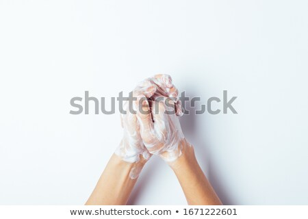 Palmen zeep schuim witte veilig Stockfoto © wavebreak_media