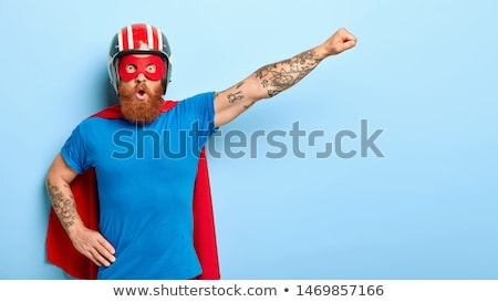 страшно Cartoon superhero иллюстрация глядя мужчин Сток-фото © cthoman