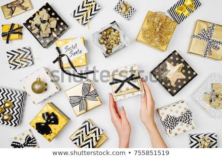 Stock fotó: Születésnapi · buli · kellékek · szett · ajándékdobozok · léggömb · gyertyák