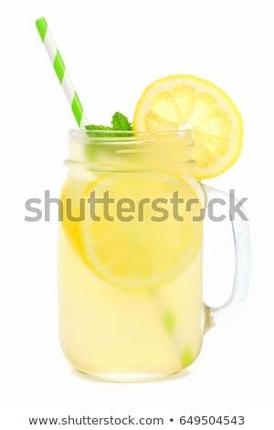 冷たい レモネード カクテル レモン ローズマリー 氷 ストックフォト © homydesign
