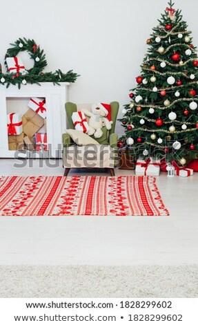 Elf huis illustratie champignon gras gelukkig Stockfoto © colematt