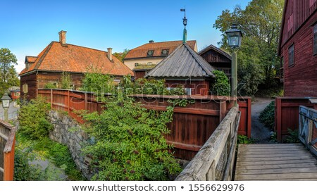 Courtyard in Stockholm Stock photo © 5xinc