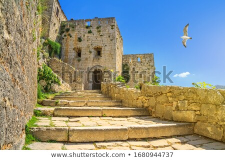 Town and fortress of Klis near Split view Stock photo © xbrchx