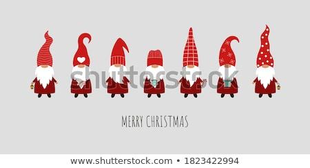 Noel baba Noel çorap örnek kar kış Stok fotoğraf © adrenalina