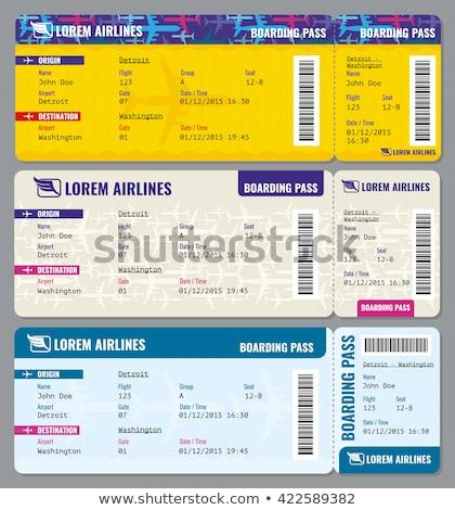 Ticket graphic design template vector illustration Stock photo © haris99