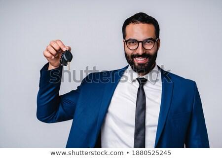 Görüntü mutlu Arapça işadamı 30s resmi Stok fotoğraf © deandrobot