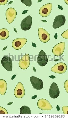 зеленый · зрелый · авокадо · фрукты · изолированный · белый - Сток-фото © artspace