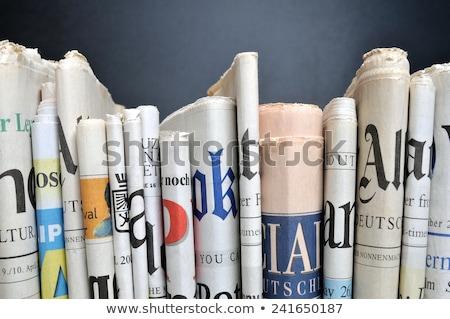 Gazety dziennika wiadomości wydrukowane publikacja Zdjęcia stock © robuart