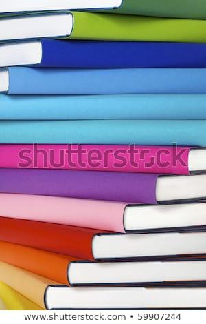クローズアップ スタック 図書 マクロ カラフル 本当の ストックフォト © lichtmeister