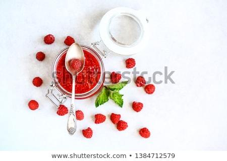 Válogatás különböző házi készítésű gyümölcs piros eper Stock fotó © furmanphoto