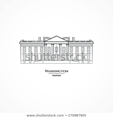Outline White House Washington DC  Stock photo © ShustrikS