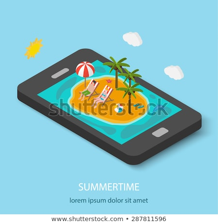 Vector isometric summer travel and vacation Stock photo © tele52