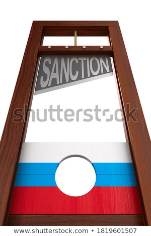 guillotine on white background. Isolated 3d illustration Stock photo © ISerg