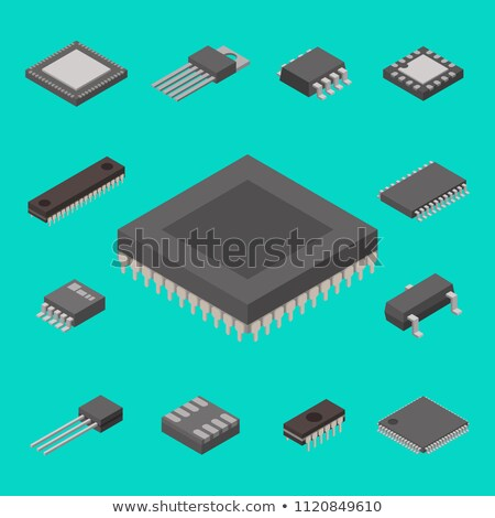 Microchip isometric icon vector illustration Stock photo © pikepicture